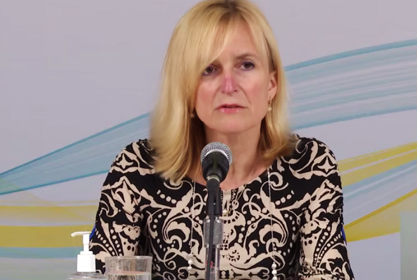 P.E.I.'s chief public health officer Dr. Heather Morrison announces three new cases of COVID-19 on the Island during a briefing on April 19, 2021.