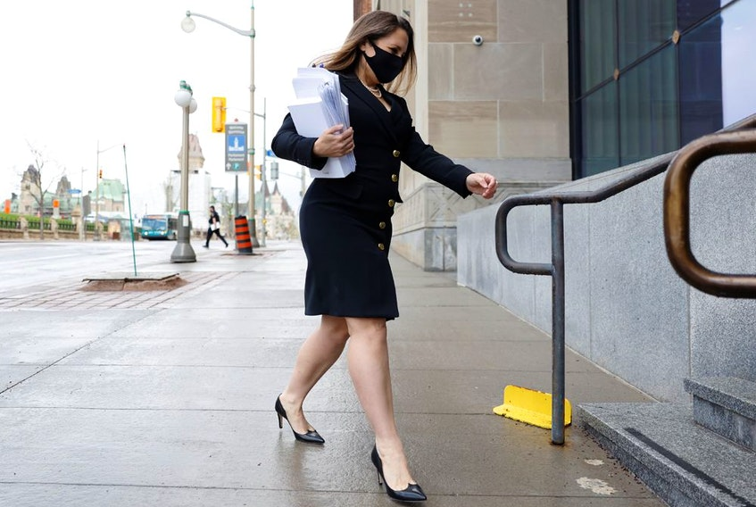 Finance Minister Chrystia Freeland prepares to deliver the budget in the House of Commons on Parliament Hill in Ottawa on Monday.