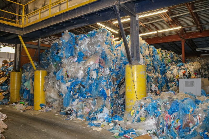 Mixed plastic, which includes film plastics, being stored at the Camdon Recycling Plant in Edwardsville, N.S. JESSICA SMITH/CAPE BRETON POST