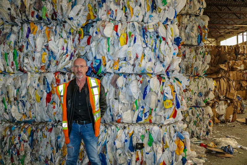 Jeff Stone has been operations manager at Camdon Recycling facility in Edwardsville, N.S., for 21 years. JESSICA SMITH/CAPE BRETON POST