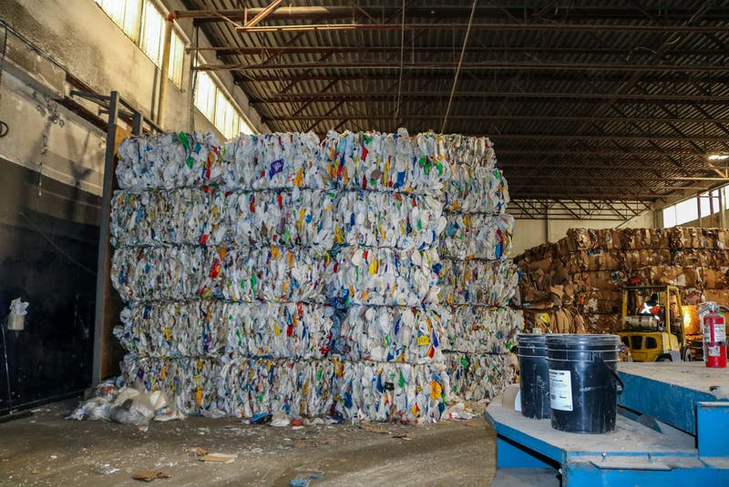 HDPE plastics being stored at the Camdon Recycling facility in Edwardsville, N.S. JESSICA SMITH/CAPE BRETON POST