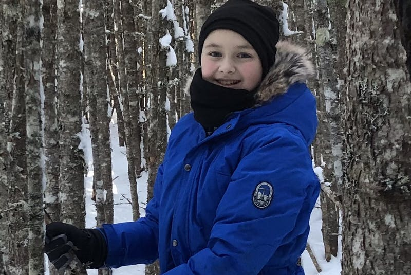 Malachy Stapleton, 11, on a hike in the woods earlier this year. The Newfoundland boy loves the outdoors and hopes to raise awareness of environmental issues and how we can protect natural habitats. - Contributed