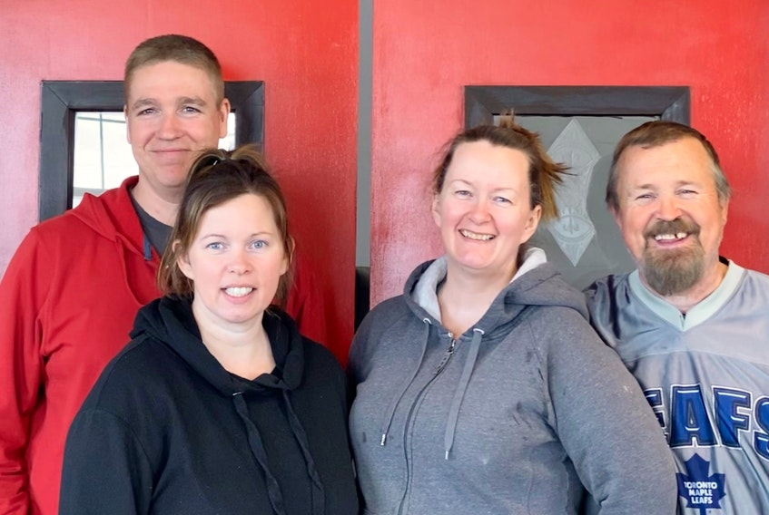 Meet the new owners of Morrison's Restaurant in Cape North. From left, Ambrose Dunphy, Crystal Dunphy, Pauline MacKinnon and Stanley MacKinnon. CONTRIBUTED