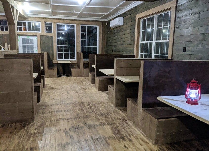 A sneak peek at the interior of the under-renovation Morrison's Restaurant in Cape North. The landmark Cabot Trail restaurant is expected to reopen in June after being closed since 2008. CONTRIBUTED - David Jala