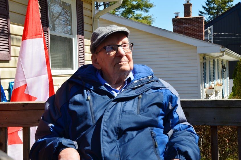 Hormidas Fredette of New Minas celebrated his 104th birthday on April 11. He was joined by family, friends and elected officials to mark the special occasion and a parade of well-wishers passed by his home. KIRK STARRATT