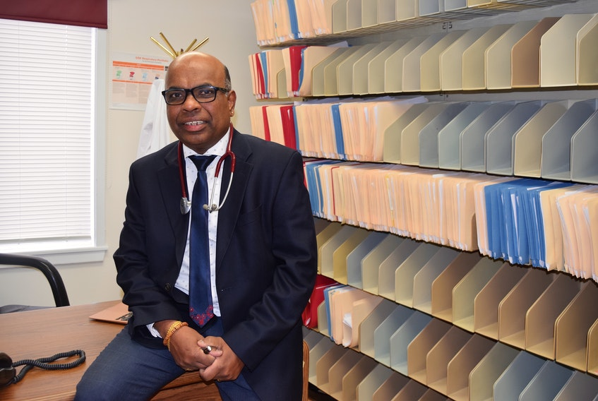 Dr. Reggie Sebastian, one of three doctors at the Sydney Family Practice walk-in clinic on Kings Road, said it's not closing at end of month but is still in danger of closing in the future if they don't receive some financial assistance from the Nova Scotia government. Sharon Montgomery-Dupe/Cape Breton Post