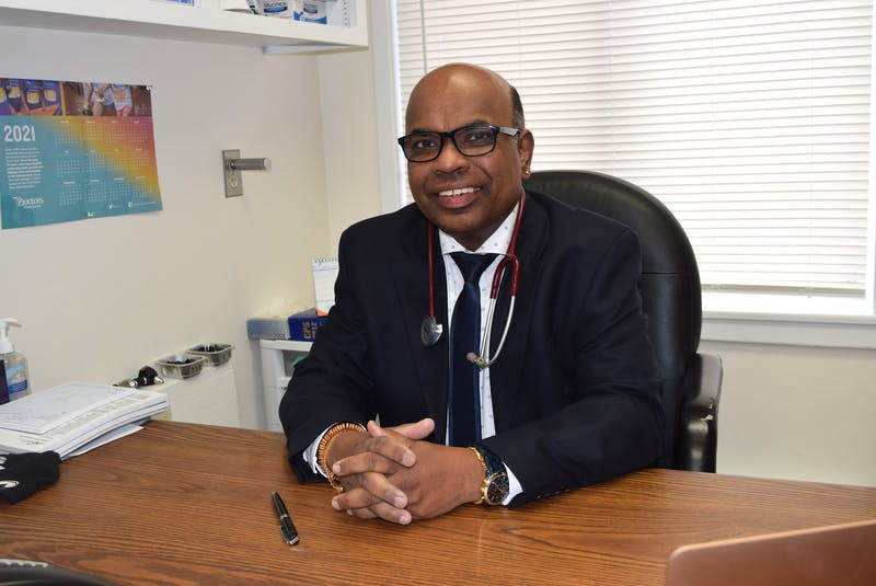 Dr. Reggie Sebastian at the Sydney Family Practice walk-in clinic on Kings Road. Sharon Montgomery-Dupe/Cape Breton Post