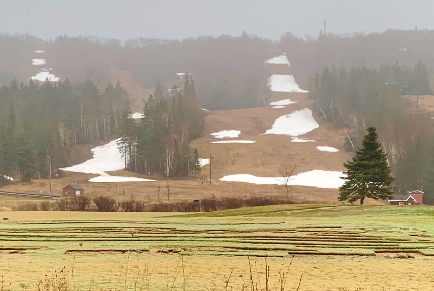 The slopes of Ski Ben Eoin are in the midst of seasonal transition. Cape Breton ski hills survived a season of challenges, not the least of which was COVID-19, and are now looking forward to next year. DAVID JALA/CAPE BRETON POST