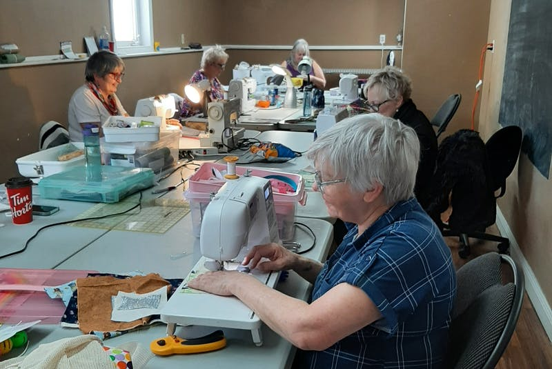 The sewing class at Sew Blessed Quilters got together one weekend to make fidget quilts for dementia patients. Sonia Myers, social worker with the Senior Mental Health Resource Team, had been looking for one quilt and ended up with 15. - Contributed