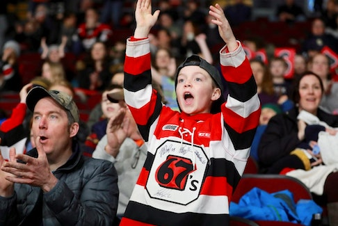 File photo/ Fans of the Ottawa 67's will have to wait until next year to see their team on the ice again..