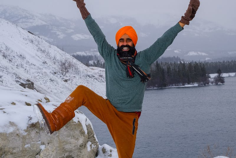 Gurdeep Pandher of the Yukon is spreading, joy, hope and positivity through his bhangra dancing videos.  Photo by Christian Kuntz   - Contributed