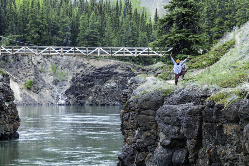 Gurdeep Pandher of the Yukon films his bhangra dancing videos in some pretty scenic locations. 