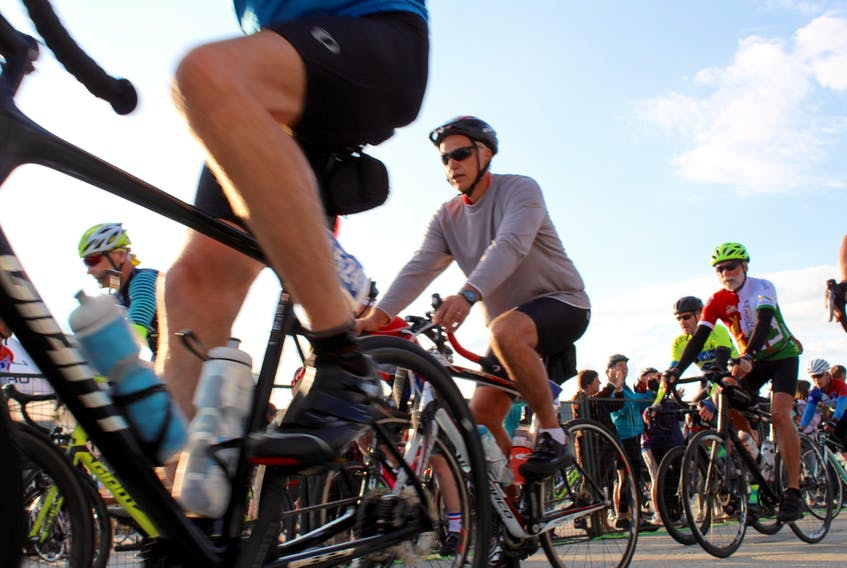 Cyclists in last a previous Gran Fondo event. After careful consideration and monitoring of public health directives surrounding the COVID-19 pandemic, the 2021 edition of Gran Fondo Baie Sainte-Marie has been cancelled, as was last year's event. CARLA ALLEN • TRICOUNTY VANGUARD