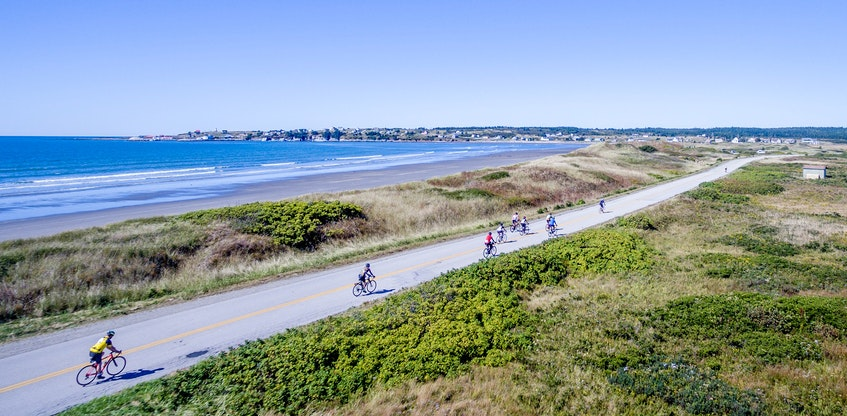 The scenic beauty of Atlantic Canada in places like Baie Sainte-Marie, N.S., has been a big part of the draw in the past for Gran Fondo cycling participants. - Joey Robichaud / File