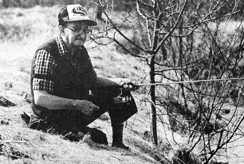 Windsor Elms resident Harold Adams Sr. enjoyed spending a lovely spring day in 1986 outside fishing. Although he didn't catch anything in Sweets Corner, he enjoyed the fishing trip nonetheless. - File Photo