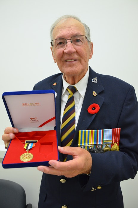 Doug Fredericks served Canada during the Korean War and received several medals for his time spent overseas. - File Photo