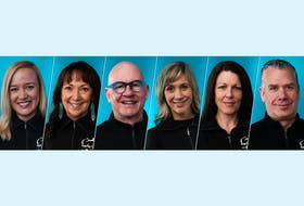 Ride for Cancer powered by BMO Bank of Montreal 2021 Executive Leadership Cabinet includes executive cabinet chair, Margaret Chapman, Fiona Kirkpatrick Parsons, Keith Skiffington, Christine Wilson, Catherine Campbell and Scott MacIntyre (pictured above left to right). - Photo Courtesy QEII Foundation.