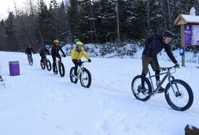 Fat-bikers enjoy the Railyard bike park in Victoria Park in December of 2020. The park saw increased usage during the winter.