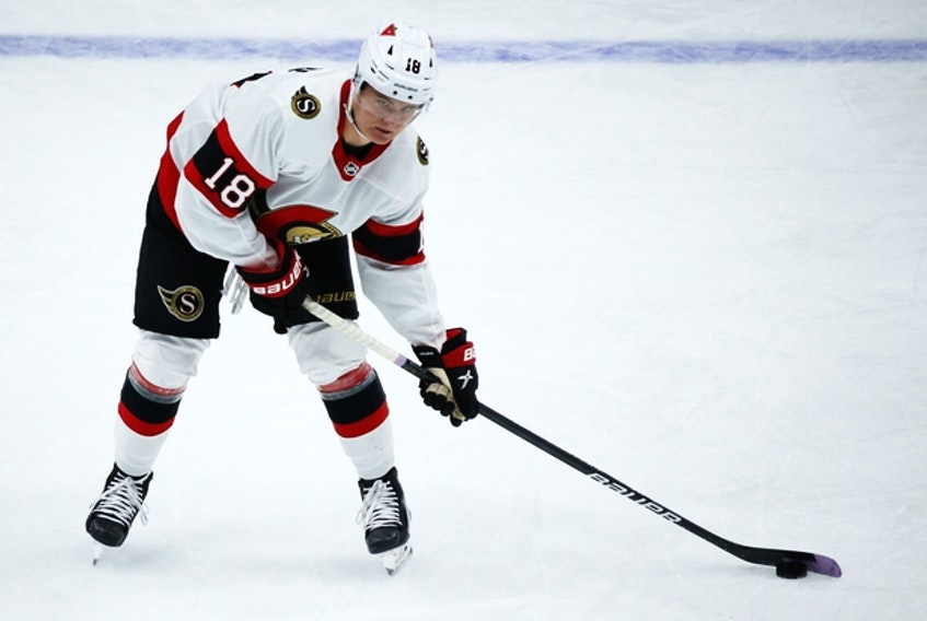 Senators rookie Tim Stuetzle has just one goal in his past 17 games, but he has been creating a lot of chances. He'll spend the summer working on getting stronger.