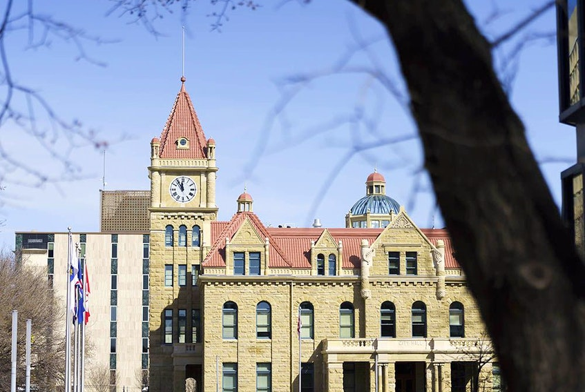 City Hall in Calgary on Tuesday, April 6, 2021.