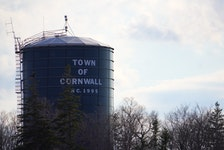The town of Cornwall's existing water tower, which is located along Main Street near the business park.