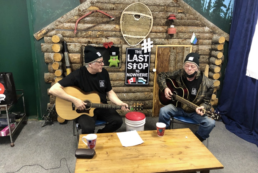 "Leander Baikie (left) and Ross Humby are launching a new comedy web serieson April 25 showcasing Labrador culture and heritage. The pair from North West River were cast members on the comedy reality show ""Last Stop Garage,"" which ran for two seasons on Discovery Canada."