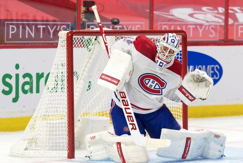 Jake Allen will start in goal for the Canadiens Wednesday night in Edmonton against the Oilers. He has a 7-8-4 record this season with a 2.52 goals-against average and a .914 save percentage.