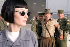 Harrison Ford and Cate Blanchett in 2008's Kingdom of the Crystal Skull. Ford was 65.