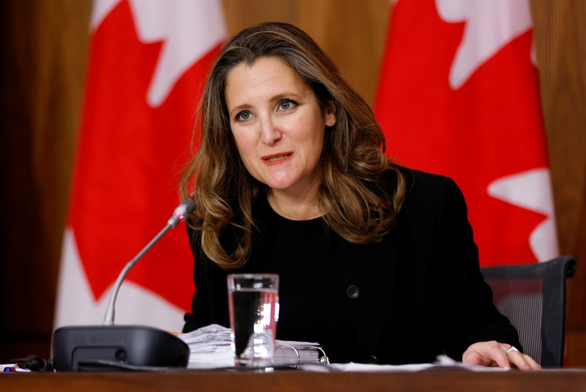 Finance Minister Chrystia Freeland. - Reuters