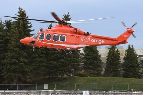 An Ornge helicopter in service.