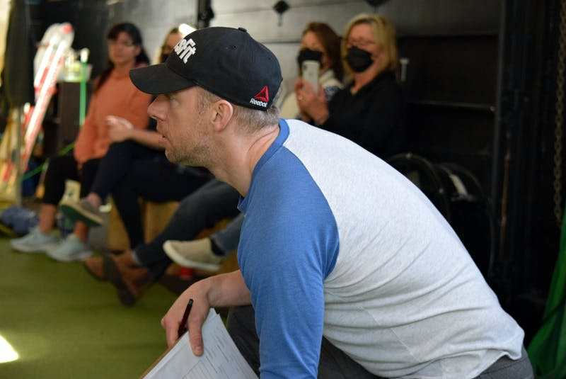 Ryan Foley acts as coach and judge for his wife Riley during online CrossFit competition. KATHY JOHNSON - Saltwire network