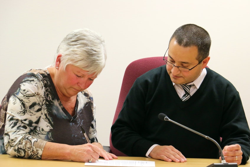 Mayor Abraham Zebian, then warden of West Hants, and Anna Allen, former Windsor mayor, signed a memorandum of understanding in February 2017 that would see the municipal units work cooperatively together for the betterment of the entire region. Windsor agreed at the time to suspend its application for amalgamation. The two municipal units officially merged to form the West Hants Regional Municipality in 2020. - File Photo
