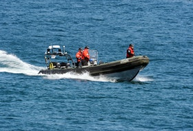 The Royal Newfoundland Constabulary deployed its face rescue craft in the search for a man in the waters off Flatrock Thursday morning.