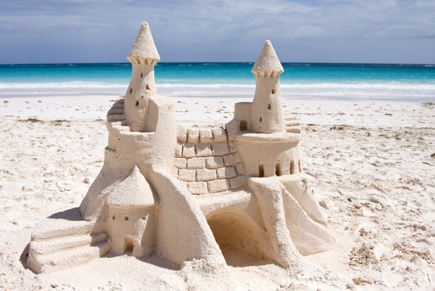 A castle in the sand. - Wikimedia Commons