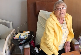 Judith Doré, formerly of Avonport, now calls the new Valley Hospice in Kentville home. She feels she's right where she wants to be for her final days. – Contributed