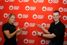 Thursday, at Benvon's Room in the Newfoundland and Labrador Sports Centre, it was announced St. John's will host the 2025 Canada Summer Games. Among those speaking at Thursday's event were former Games athletes and youth/athlete committee members Nathan Young (right) and Jennifer Boland. — Joe Gibbons/The Telegram