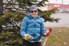 Corner Brook resident Doris Cormier, with the help of a few willing volunteers, cleaned up a green space on St. Mark's Avenue on Thursday, Earth Day.