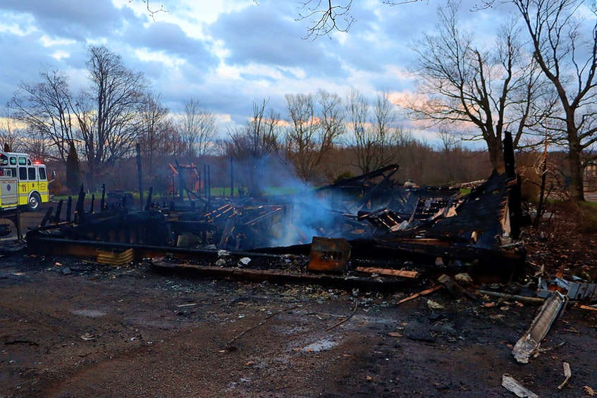 The three-level Annapolis Valley farmhouse was deemed a complete loss following the fire. – Adrian Johnstone - Contributed