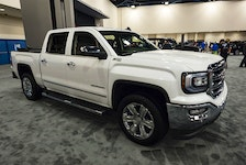 Summerside police are looking for stolen on April 21, red 2016 GMC Sierra with a P.E.I. plate 255KD