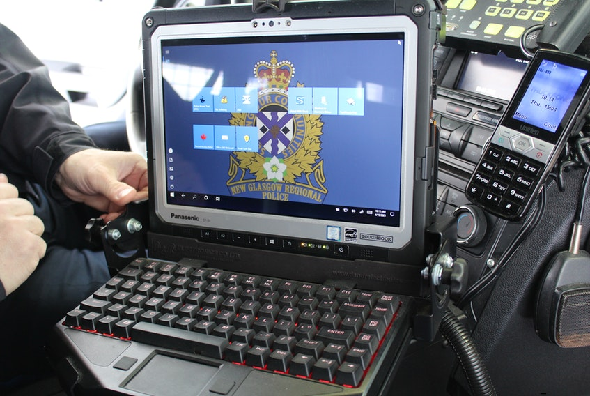 The New Glasgow Police have computers in all their operational cars. It allows them to have more of a mobile office.