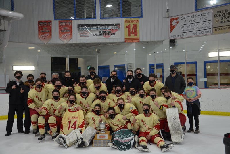 The Arsenault's Fish Mart Western Red Wings won the Abram-Village-based franchise's fourth straight Island Junior Hockey League championship on Wednesday night. The Red Wings defeated the A&S Scrap Metal Metros 6-1 at the Evangeline Recreation Centre to claim the best-of-seven championship series in five games. - Jason Simmonds