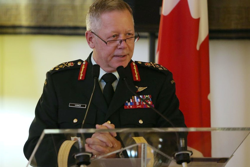 A November 2020 file photo of Gen. Jonathan Vance, who is now retired from the position of chief of the defence staff.