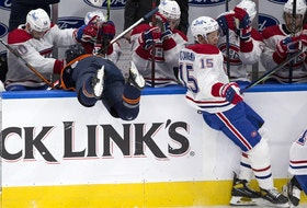 Jesperi Kotkaniemi was a physical presence with five hits and a nice assist on Lehkonen's goal Wednesday night. Early in the first period, he checked Oilers' Josh Archibald over the boards.