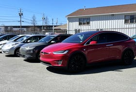 Electric cars for sale at AllEV in Burnside, which specializes in selling and maintaining all models of used electric cars. They opened over a year ago, and business is so steady that they are currently booking service appointments weeks in advance.
