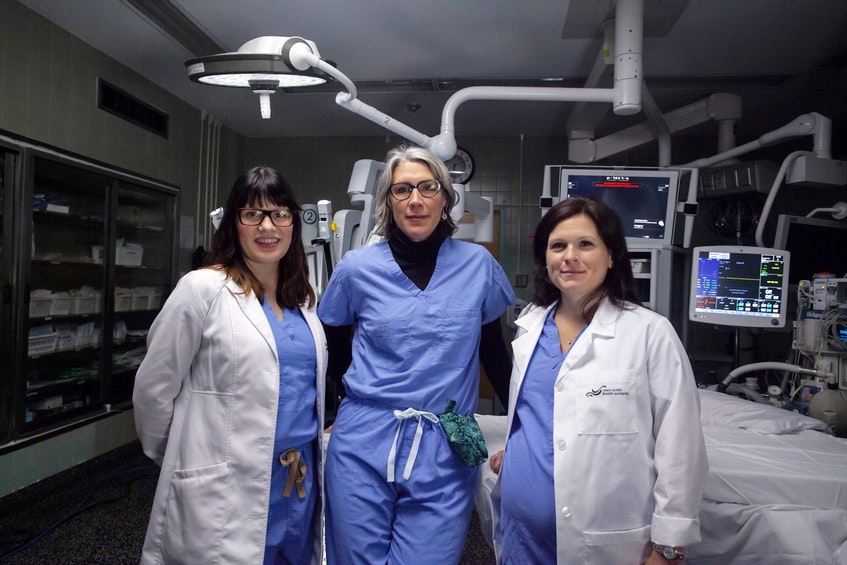 Members of the QEII's Division of Gynecology Oncology, Dr. Karla Willows (left), Dr. Katharina Kieser (centre) and Dr. Stephanie Scott (right). - Photo Courtesy QEII Foundation.