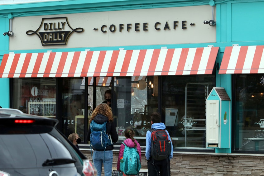 Dilly Dally Coffee shop on Quinpool pivots to provide service to customers at a walk-up window Friday. - ERIC WYNNE/CHRONICLE HERALD