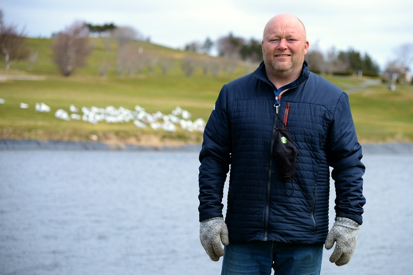 Bally Haly golf club manager Mike Curran stands on the course Wednesday morning.— Keith Gosse/The Telegram