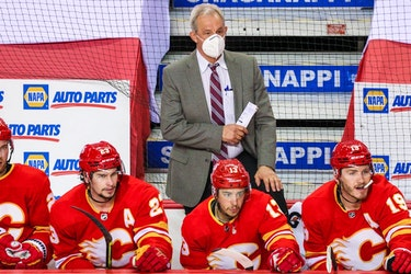 The Flames, with head coach Darryl Sutter, are scheduled to play the Canadiens Friday night in Calgary.