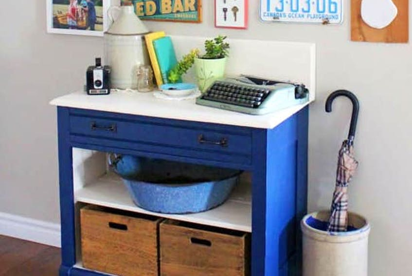 Virginia Fynes of Fynes Designs in Morristown suggests that if a piece is missing a drawer, consider replacing it with baskets or other art items. - Contributed