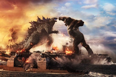 Godzilla and King Kong duke it out on top of an aircraft carrier and it's just perfectly stupid. - Warner Bros. Pictures